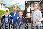 Dan Horgan, Patrick O'Connor, Eoin O'Sullivan and Vincent O'Connor Killorglin at the horse fair in Killorglin on Saturday   Copyright Kerry's Eye 2008