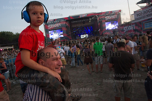 Sziget festival held in Budapest, Hungary on August 8, 2012. ATTILA VOLGYI