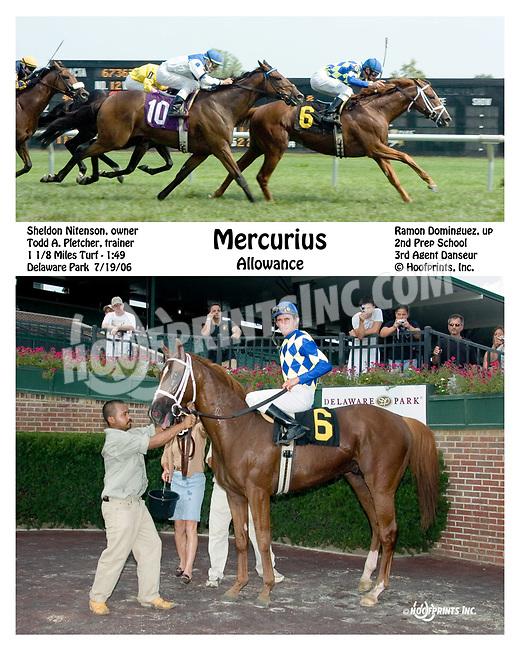 Mercurius winning at Delaware Park on 7/19/06