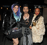 Chloe Akam, Jay Kamiraz ( Mr Fabulous ) and Tina T spotted at the Cuckoo Club, Swallow Street, London, England, UK, on Thursday 11 January 2018.<br /> CAP/CAN<br /> &copy;CAN/Capital Pictures