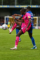 Fabio Tavares of Rochdale AFC and Paul Osew of AFC Wimbledon during AFC Wimbledon vs Rochdale, Sky Bet EFL League 1 Football at the Cherry Red Records Stadium on 5th October 2019