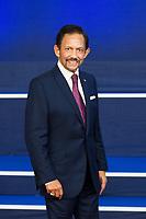 Sultan Haji Hassanal Bolkiah of Brunei attends the Asia-Europe meeting - Brussels - Belgium