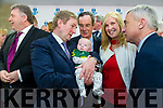 Taoiseach Enda Kenny TD attend the launch of the €16.5m sports academy at ITT North Campus on Monday. An Taoiseach Enda Kenny meeting young Kerry supporter, Sean Sayers and mom Eileen Sayers with Sean Healy, AIB, Dick Spring, Ogie Moran