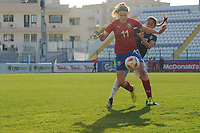 20190306 - LARNACA , CYPRUS : Czech midfielder Kamila Dubcova (11) pictured during a women's soccer game between Czech Republic and Mexico , on Wednesday 6 March 2019  at the Antonis Papadopoulos Stadium in Larnaca , Cyprus . . This last game for both teams which decides for places 5 and 6 of the Cyprus Womens Cup 2019 , a prestigious women soccer tournament as a preparation on the Uefa Women's Euro 2021 qualification duels. PHOTO SPORTPIX.BE | STIJN AUDOOREN