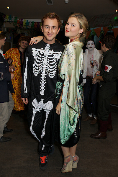 Francis Boulle and Amber Atherton at The Myflashtrash Halloween Party at Barrio, Soho, London