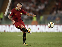 Calcio, Serie A: Roma, stadio Olimpico, 26 agosto, 2017.<br /> Roma's Radja Nainggolan in action during the Italian Serie A football match between Roma and Inter at Rome's Olympic stadium, August 26, 2017.<br /> UPDATE IMAGES PRESS/Isabella Bonotto