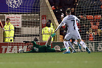 O's keeper Sam Sargeant saves from a 2nd half James Vaughan shot during Leyton Orient vs Bradford City, Sky Bet EFL League 2 Football at The Breyer Group Stadium on 14th December 2019
