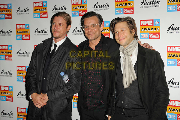 LONDON, ENGLAND - FEBRUARY 18: Interpol attending the NME Awards at Brixton Academy on February 18 2015 in London, England.<br /> CAP/MAR<br /> &copy; Martin Harris/Capital Pictures