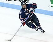 Jesse Schwartz (UConn - 17) - The Boston University Terriers defeated the visiting University of Connecticut Huskies 4-2 (EN) on Saturday, October 24, 2015, at Agganis Arena in Boston, Massachusetts.