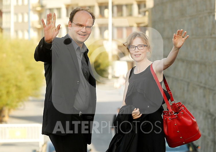French actors Jean Pierre Ameris (l) and Isabelle Carre (r) during the 59th San Sebastian Donostia International Film Festival - Zinemaldia.September 21,2011.(ALTERPHOTOS/ALFAQUI/Acero)