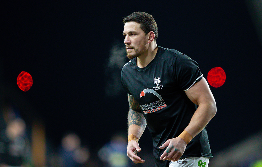 Toronto Wolfpack's Sonny Bill Williams warms up<br /> <br /> Photographer Alex Dodd/CameraSport<br /> <br /> Betfred Super League Round 6 - Leeds Rhinos v Toronto Wolfpack - Thursday 5th March 2020 - Headingley - Leeds<br /> <br /> World Copyright © 2020 CameraSport. All rights reserved. 43 Linden Ave. Countesthorpe. Leicester. England. LE8 5PG - Tel: +44 (0) 116 277 4147 - admin@camerasport.com - www.camerasport.com