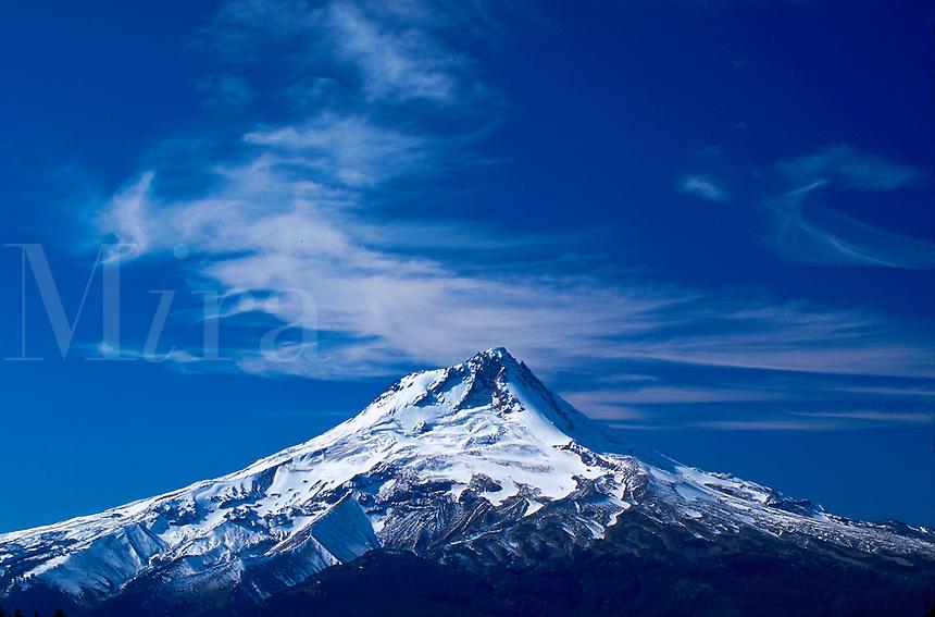Mt. Hood and clouds, Oregon