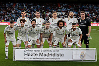 Real Madrid's team photo during La Liga match between Real Madrid and SD Huesca at Santiago Bernabeu Stadium in Madrid, Spain.March 31, 2019. (ALTERPHOTOS/A. Perez Meca)<br /> Liga Campionato Spagna 2018/2019<br /> Foto Alterphotos / Insidefoto <br /> ITALY ONLY