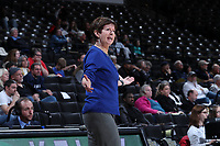 WINSTON-SALEM, NC - FEBRUARY 06: Head coach Muffet McGraw of the University of Notre Dame complains about a call during a game between Notre Dame and Wake Forest at Lawrence Joel Veterans Memorial Coliseum on February 06, 2020 in Winston-Salem, North Carolina.