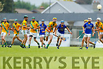 Kieran McCarthy Kilmoyley in action against Brian McAuliffe Lixnaw in the Kerry County Senior Hurling championship Final between Kilmoyley and Lixnaw at Austin Stack Park on Sunday.
