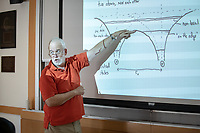 PHYSICS 268, Engineering Materials with Physics professor George Schmiedeshoff on Friday, October 19, 2018 in Hameetman Science Center (HSC) room 124.<br /> Homecoming and Family Weekend 2018 - Student for a Day, a Homecoming tradition, gives a snapshot of academic life for today's Oxy students.<br /> (Photo by Marc Campos, Occidental College Photographer)