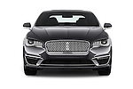 Car photography straight front view of a 2018 Lincoln MKZ Reserve 4 Door Sedan Front View