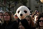 I Count Stop Climate Chaos Rally, Trafalgar Square London 4 November 2006