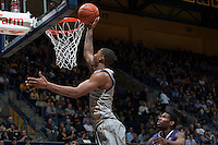 Richard Solomon of California shoots the ball during the game against Washington at Haas Pavilion in Berkeley, California on January 15th 2014.  California defeated Washington, 82-56.