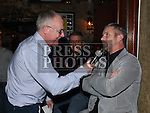 Gerry Kelly interviews Mark Kinsella at the Drogheda United meet and greet night in Mother Hughes's. Photo:Colin Bell/pressphotos.ie