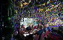 04/12/14<br /> <br /> Upstairs dining rooms.<br /> <br /> The Hanging Gate pub in Chapel en le Frith, in the Derbyshire Peak District claims to have the largest display  of Christmas decorations inside its bar and restaurants. <br /> <br /> Full story here: http://www.fstoppress.com/articles/christmas-pub/<br /> <br /> ***ANY UK EDITORIAL PRINT USE WILL ATTRACT A MINIMUM FEE OF £130. THIS IS STRICTLY A MINIMUM. USUAL SPACE-RATES WILL APPLY TO IMAGES THAT WOULD NORMALLY ATTRACT A HIGHER FEE . PRICE FOR WEB USE WILL BE NEGOTIATED SEPARATELY***<br /> <br /> <br /> All Rights Reserved - F Stop Press. www.fstoppress.com. Tel: +44 (0)1335 300098