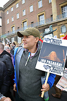 Norwich Against Fascists organised a large counter-demonstration at UK Unity 'take back control' pro-Brexit protest taking place across the road. Clive Lewis Labour MP for Norwich South. Norwich, UK 10 November 2018