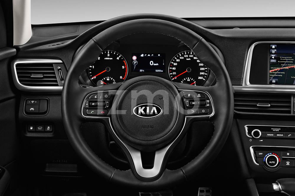 Car pictures of steering wheel view of a 2017 KIA Optima Sportswagon Sense 5 Door Wagon
