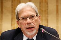 Claudio De Vincenti, Ministro Mezzogiorno, durante la conferenza stampa  a margine di Italy is Now and Next