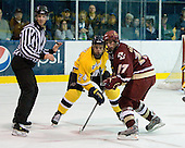Stephane Da Costa (Merrimack - 24), Brian Gibbons (BC - 17) - The Merrimack College Warriors defeated the Boston College Eagles 5-3 on Sunday, November 1, 2009, at Lawler Arena in North Andover, Massachusetts splitting the weekend series.