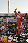 Oct 26, 2008; 5:09:31 PM;  Hampton, GA. USA; NASCAR Sprint Cup Series victory lane celebrations at the Atlanta Motor Speedway for the  Pep Boys Auto 500.  Mandatory Credit: (thesportswire.net)