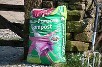 Garden compost in a garden.