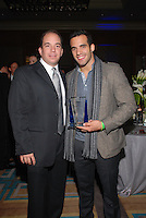 Alex Rodriguez-Roig honors US Gold Medalist, Danell Leyva, at The Boys and Girls Club of Miami Wild About Kids 2012 Gala at The Four Seasons, Miami, FL on October 20, 2012