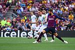 UEFA Champions League 2018/2019 - Matchday 1.<br /> FC Barcelona vs PSV Eindhoven: 4-0.<br /> Luuk de Jong vs Gerard Pique.
