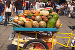 Fruits on display in a Mexico City<br />