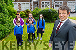John Hickey (Principal) standing the Doherty family as Patrick Doherty will be one of the first boys to go into 6th class at the Presentation NS. <br /> Front Patrick and Crystal Doherty.<br /> Back Rose O'Brien, Jolene and Antonia Doherty.