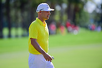 Ben Crane (USA) after sinking his putt on 2 during round 3 of the Honda Classic, PGA National, Palm Beach Gardens, West Palm Beach, Florida, USA. 2/25/2017.<br /> Picture: Golffile | Ken Murray<br /> <br /> <br /> All photo usage must carry mandatory copyright credit (&copy; Golffile | Ken Murray)