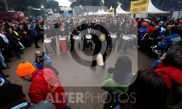 Batukada, music performance during Pinguinos 2013, international motorbike meeting in Puente Duero, Valladolid. January, 12 2013. (ALTERPHOTOS/Victor Blanco)