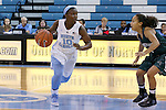 09 November 2015: North Carolina's Jamie Cherry (10) and Mount Olive's Ni'ya Styles (right). The University of North Carolina Tar Heels hosted the University of Mount Olive Trojans at Carmichael Arena in Chapel Hill, North Carolina in a 2015-16 NCAA Women's Basketball exhibition game. UNC won the game 99-45.
