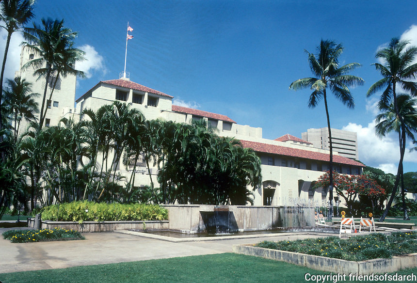 Honolulu: Honolulu Hale (City Hall) 1927. Miller, Dickey & Wood, Rothwell, Kangster, Lester. Photo '82.