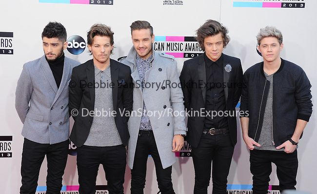 LOS ANGELES, CA - NOVEMBER 24: One Direction arrives at   The 2013 American Music Awards held at Nokia Live in Los Angeles, California on November 24,2013                                                                               © 2013 Hollywood Press Agency