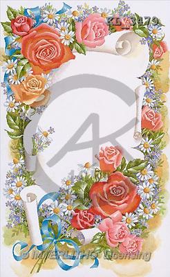 Interlitho, Michael, FLOWERS, paintings, parchment(KL3479,#F#) Blumen, flores, illustrations, pinturas ,everyday