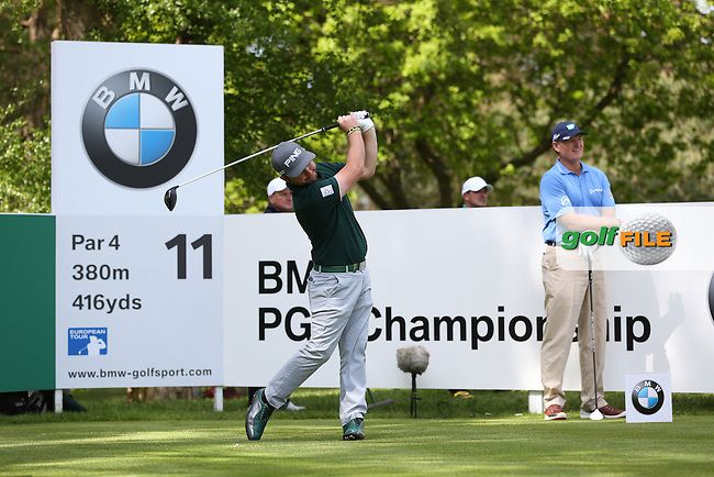 Andy Sullivan (ENG)  during Round One of the 2015 BMW PGA Championship over the West Course at Wentworth, Virginia Water, London. Picture David Lloyd, www.golffile.ie: 21/05/2015