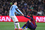 11.03.2015 Barcelona.UEFA champions League. Rounf 0f 16 2nd leg. Picture show David SIlva and Neymardurring game between FC Barcelona against Manchester city at Camp Nou