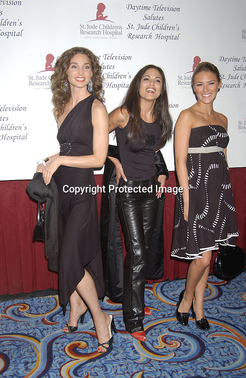 ..Alicia Minshew , Liz Hendrickson and Terri Ivens..at the Ninth Annual Daytime Television Salutes St. Jude ..Children's Research Hospital benefit in New York City on ..October 10, 2003 at the Marriott Marquis Hotel. ..Photo by Robin Platzer, Twin Images
