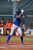 Kansas City Royals Raul Mondesi (4) during an instructional league game against the San Francisco Giants on October 22, 2015 at the Giants Baseball Complex in Scottsdale, Arizona.  (Mike Janes/Four Seam Images)