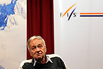 FIS president Gian-Franco Kasper is seen before the opening of the FIS Alpine Ski World Cup  on 23/10/2015 in Soelden, Austria.