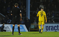 Fleetwood Town's Ched Evans walks off after being sent off<br /> <br /> Photographer Kevin Barnes/CameraSport<br /> <br /> The EFL Sky Bet League One - Bristol Rovers v Fleetwood Town - Saturday 22nd December 2018 - Memorial Stadium - Bristol<br /> <br /> World Copyright &copy; 2018 CameraSport. All rights reserved. 43 Linden Ave. Countesthorpe. Leicester. England. LE8 5PG - Tel: +44 (0) 116 277 4147 - admin@camerasport.com - www.camerasport.com
