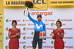 Alejandro Valverde (ESP) Movistar Team wins the days combativity prize at the end of Stage 11 of the 2018 Tour de France running 108.5km from Albertville to La Rosiere Espace San Bernardo, France. 18th July 2018. <br /> Picture: ASO/Pauline Ballet | Cyclefile<br /> All photos usage must carry mandatory copyright credit (&copy; Cyclefile | ASO/Pauline Ballet)