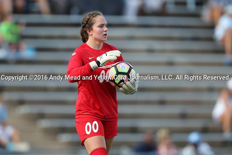 21 August 2016: Charlotte's Anna Shelden. The University of North Carolina Tar Heels hosted the University of North Carolina Charlotte 49ers in a 2016 NCAA Division I Women's Soccer match. UNC won the game 3-0