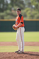 San Francisco Giants relief pitcher Logan Webb (50) prepares to deliver a pitch during an Instructional League game against the Kansas City Royals at the Giants Training Complex on October 17, 2017 in Scottsdale, Arizona. (Zachary Lucy/Four Seam Images)